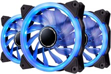 ColorAge Computer Chassis 120MM LED Ring Fan (Blue Color)