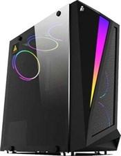 1st PlayerRAINBOW R5 (Black) Tempered Glass LED Strip With 3 Fans