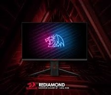 REDIAMOND 25? Gaming Monitor 25? 144Hz, Full HD, 1ms with HOLOGRAM LOGO and RGB Panels on Backside –