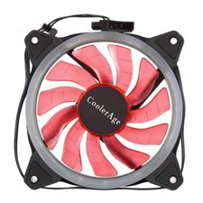 ColorAge Computer Chassis 120MM LED Ring Fan (Red Color)