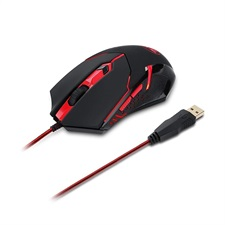 M601-3 CENTROPHORUS 3200 DPI, 5 Buttons, 8 Tunning Weights, LED Backlit Wired Gaming Mouse – Redrago